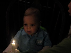 Ready to blow out the candle